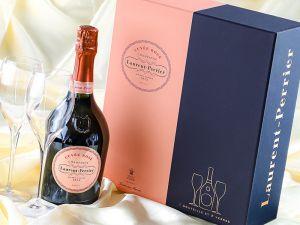 Laurent-Perrier - Champagner Cuvée Rosé Brut - mit 2 Gläsern